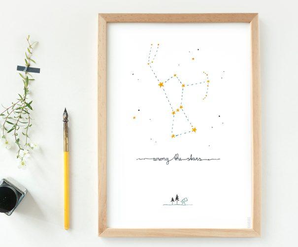 poster sterrenbeeld