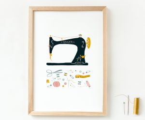 poster vintage singer naaimachine