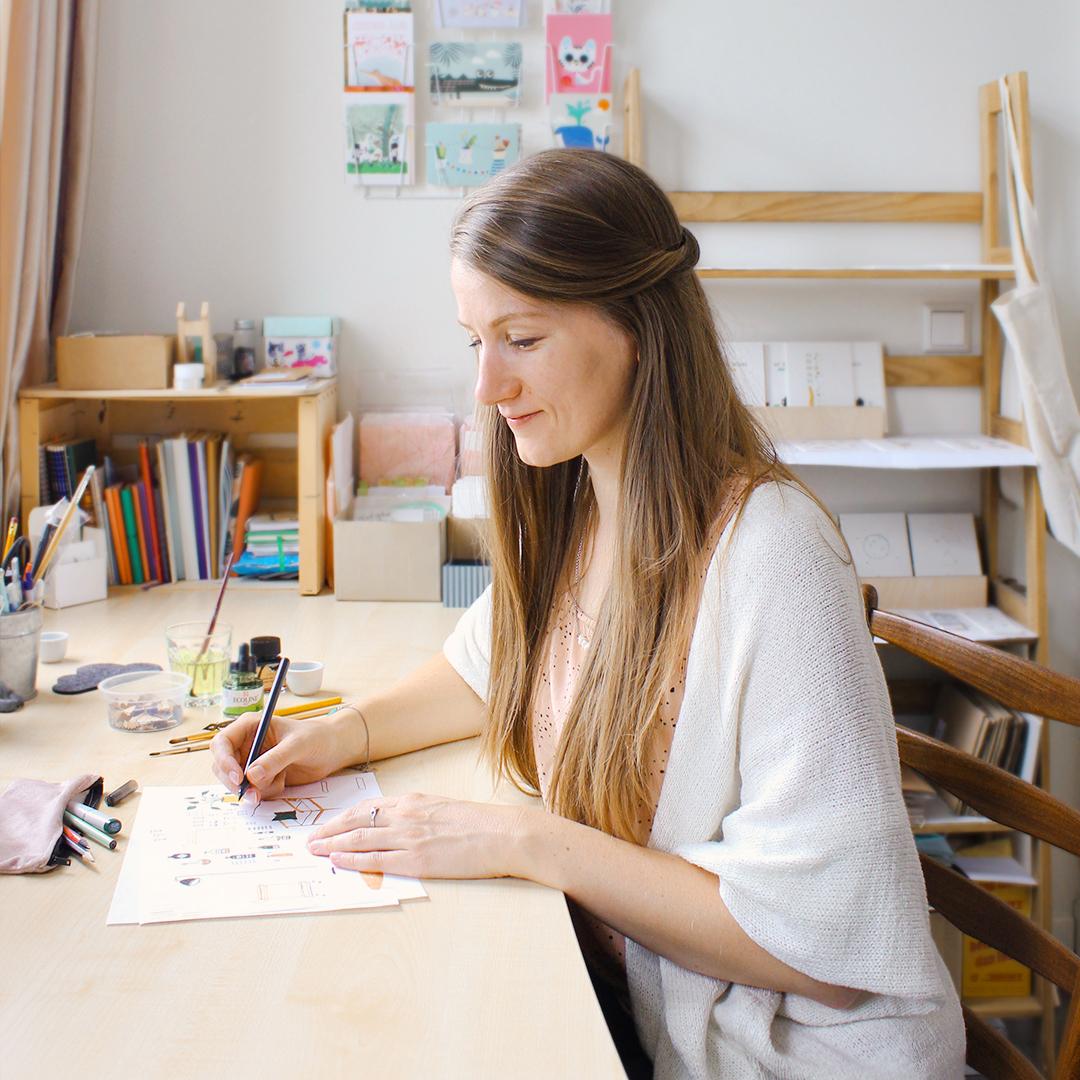 studio kuukeluus illustratie