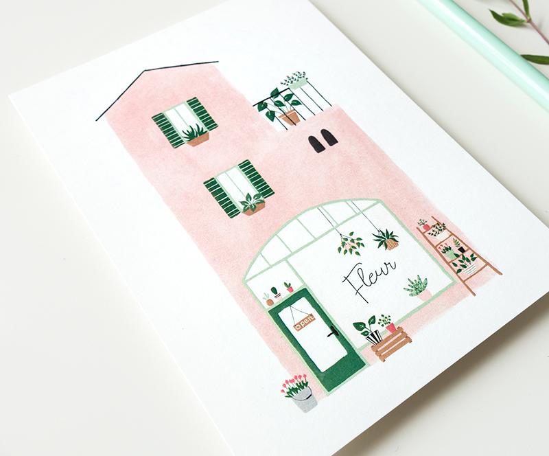 kaart planten winkel