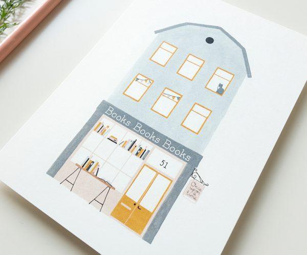kaart boeken winkel