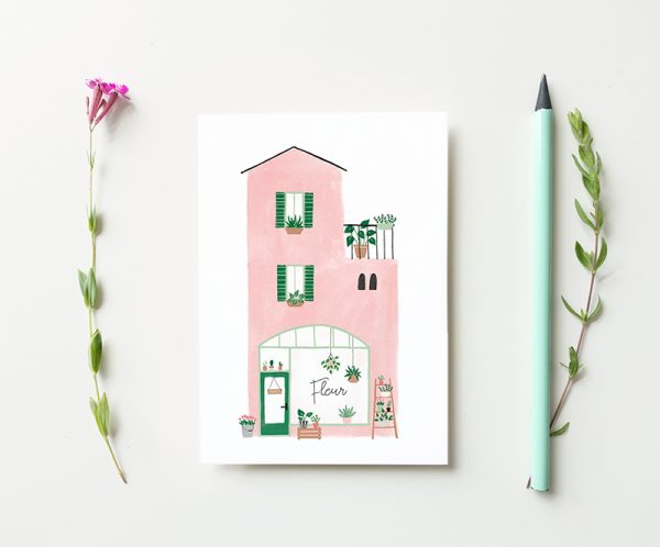 kaart bloemenwinkel