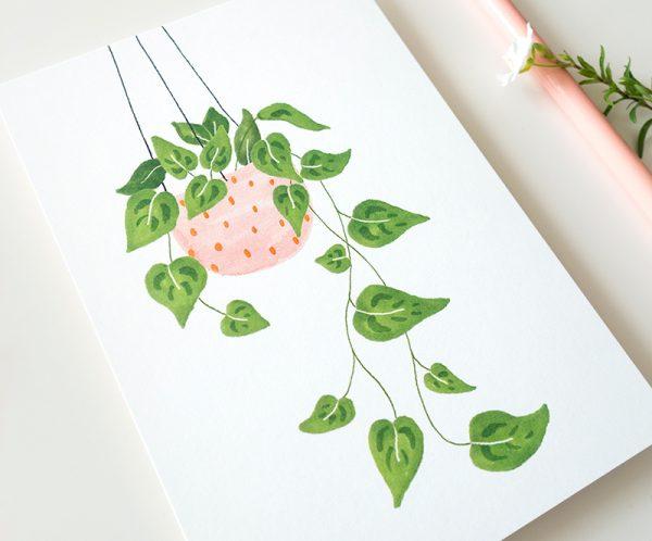 kaart plantje