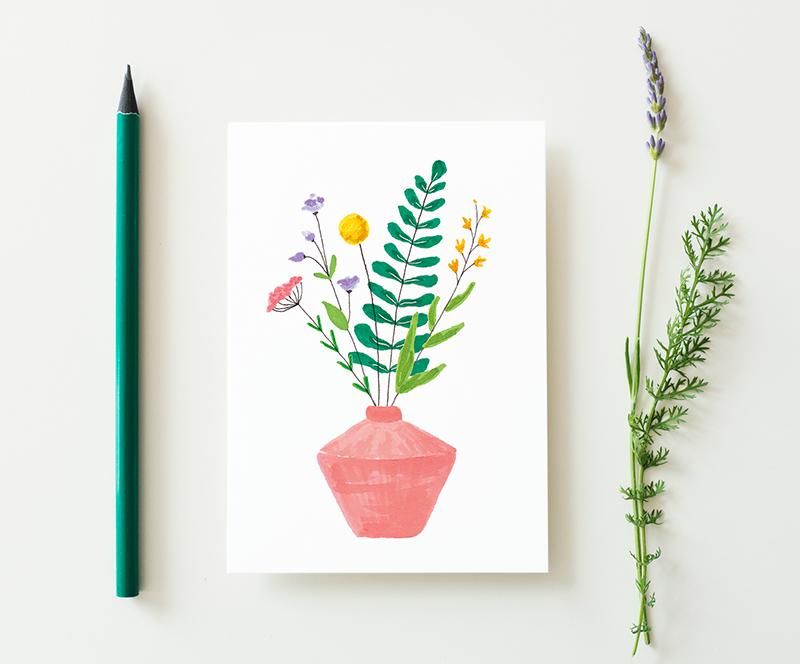 kaart veldbloemen