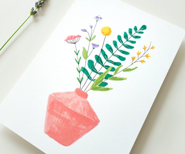 kaart bloemen