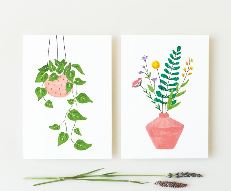 kaarten plant bloemen