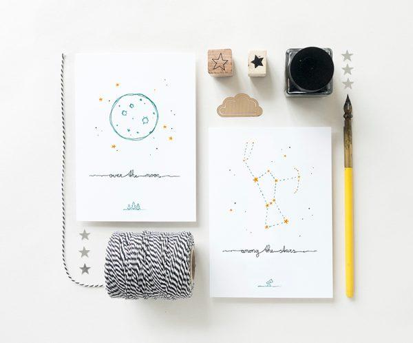 kaarten maan sterren