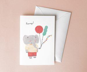 verjaardagskaart olifant