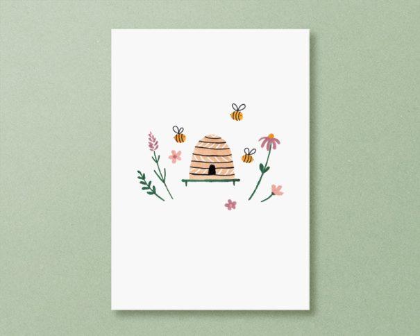 kaart bijenkorf bijen
