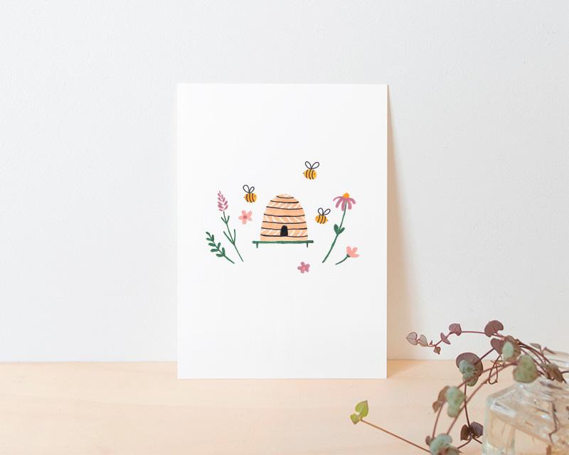 kaart bijen bloemen