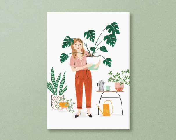 kaart plant lady
