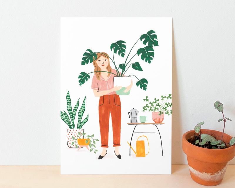 kaart plantjes