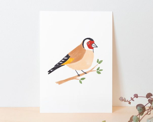 kaart puttertje vogel