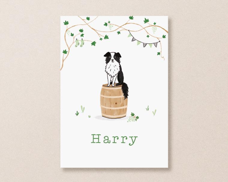 harry geboortekaartje met hond