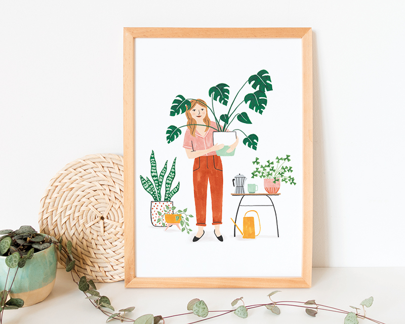 poster plant lady