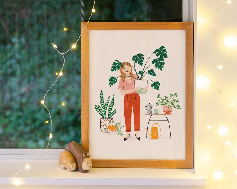print plant lady