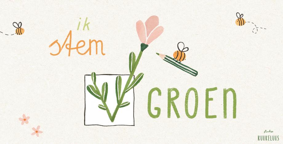 stem groen illustratie