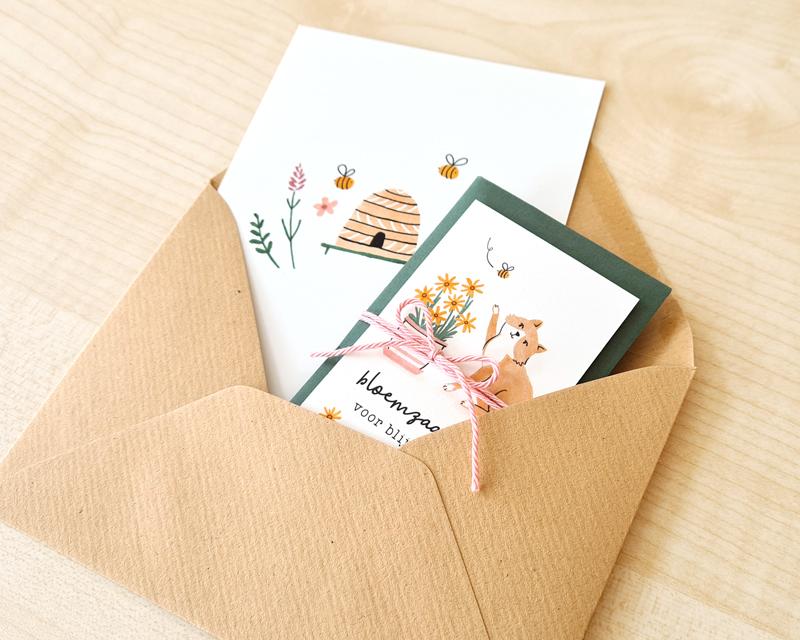 brievenbuscadeautje bloemen