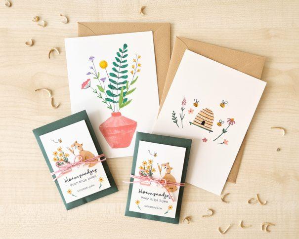 cadeau bloemenzaden kaarten