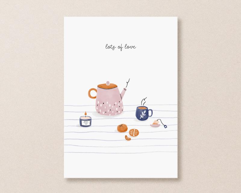 get well soon card tea